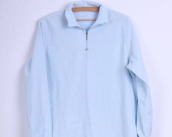 Odlo Womens XL Fleece Top Blue Zip Neck Outdoor Top