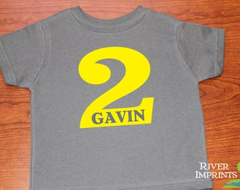 Toddler BIRTHDAY PERSONALIZED, toddler boy or girl tshirt with name