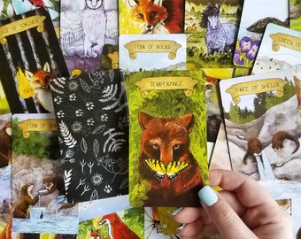 Tarot Fauna (80 Card Semi-Traditional Tarot Deck)