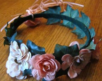 Peach Zinnia Crown