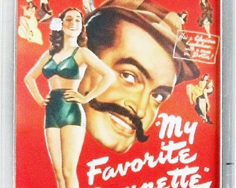 My Favourite Brunette Bob Hope Dorothy Lamour Peter Lorre Lon Chaney Jr movie poster Fridge Magnets and Keyrings - New