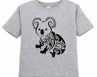 CLEARANCE, Kids Clothing, Kids Shirt, Toddler, Koala Bear T Shirt, Koala Tshirt, Jungle Animal Tee, Youth,