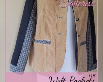 Welt Pocket PDF Sewing Pattern|Pocket Pdf Sewing Patterns|Pocket Sewing Patterns|Sewing Pattern|Pocket Pdf Pattern|Pocket Sewing Pattern