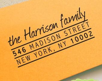 Custom Address Stamp, Pre Inked Return Address Stamp, Personalized Address Stamp, Self Ink Custom Address Stamp, Return Address Stamp b5-11