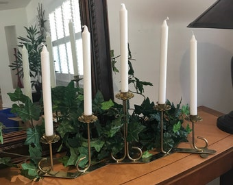 Brass adjustable Candelabra