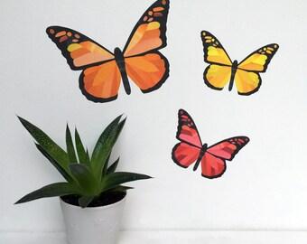 Butterflies Wall Stickers, Autumn Wall Stickers, Fall Wall Decals, Butterfly Wall Stickers, Butterfly Wall Decals, Fall Decor, Thanksgiving