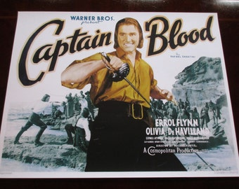 Captain Blood Movie Poster 24x32in Errol Flynn