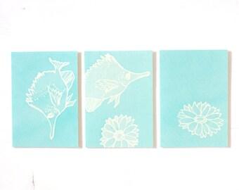 Batik Greeting Card - Under The Sea no.51