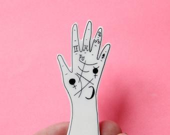 Palmistry Hand Brooch / Pin