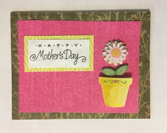 Beautiful Flower Happy Mother's Day Card- Handmade