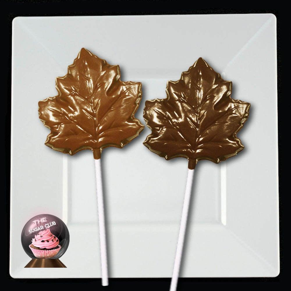 Fall Party Favor, Fall Wedding Favor, Maple Leaf Lollipop, Leaf Wedding Favor, Fall Candy, Chocolate Leaf, Autumn Wedding, Fall Theme, Canad