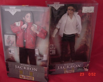Michael Jackson Singing Doll w/ Extra Beat It Outfit, 1995,  Very Good Cond