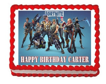 Fortnite party edible cake image cake topper frosting sheet*