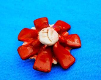 LG Vintage Unique Flower Button