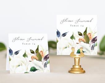 Floral Wedding Place Card - Elegant Wedding Name Card Printable - Floral Place Cards for Wedding - Name Card Wedding - Wedding Seating Card