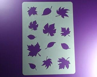 Stencil leaves autumn leaves 13 leaves-BA06