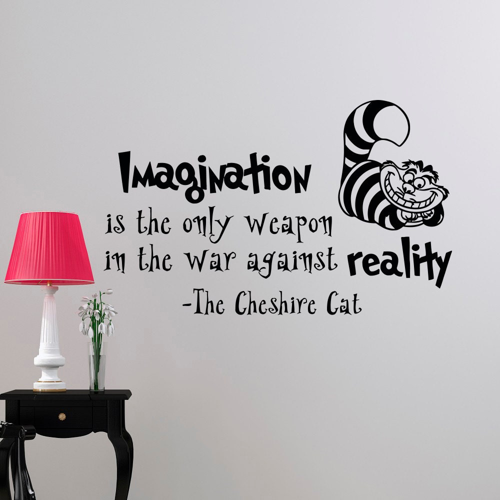 Alice In Wonderland Caterpillar Quotes: Alice In Wonderland Wall Decal Quote Imagination Is The Only