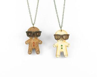 Gingerbread Nerd Necklace