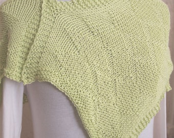 Instant Download pdf Hand Knitting Pattern  - Zest Scarf Pattern