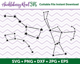 Constellations SVG File Big Dipper Little Dipper Orion - Small Business Commercial Use / Personal Use