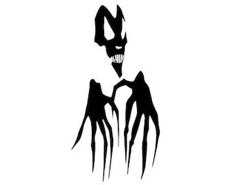 "Devil Demon Claw Monster - Vinyl Decal Sticker - 3.75"" x 7.5"" - 24 Colors - [#0203]"