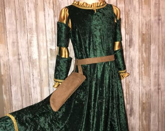 Inspired by Disney's Brave Merida - child costume