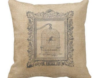 Farmhouse Birdhouse Decorative Pillow