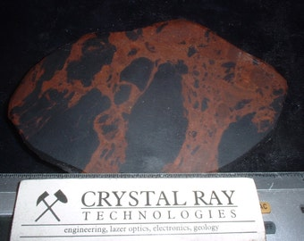 Slab of mahogany Obisdian black and Brown a Volcanic Glass