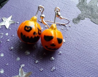 Original and adorable halloween pumpkin earrings