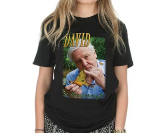 Sir David Attenborough T-shirt Top Shirt Tee Fashion Retro 90's Bae