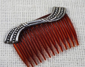 30% Off SALE Sterling Silver Modernist Mexico Hair Comb