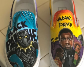 Custom Painted Black Panther Shoes