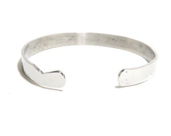 Stainless Steel Bracelet, Cuff, Women, Men, Mirror Finished, Metalwork Bracelet, BLB 81,