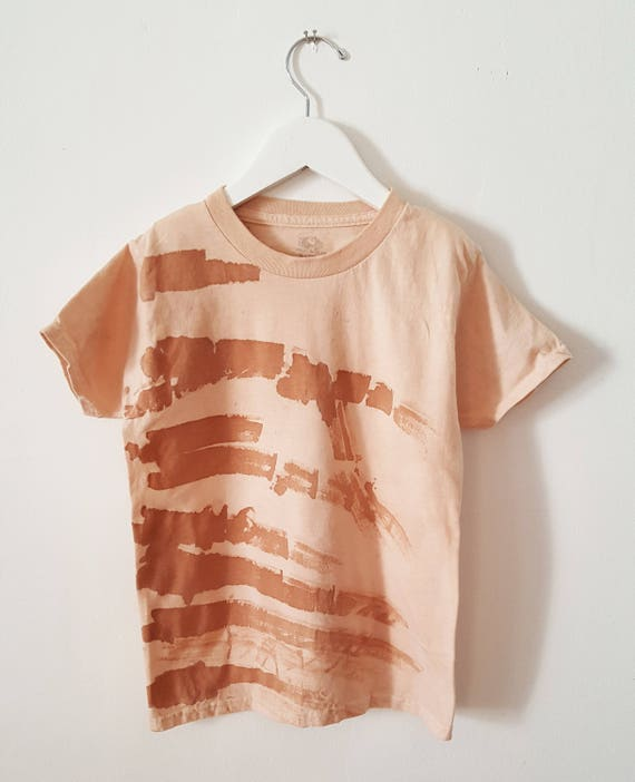 Botanically Dyed Children's Tee / Toddler T-Shirt / Eco Fashion / Slow Fashion / Hand Dyed / Botanical Color / Natural Color /  Abstract