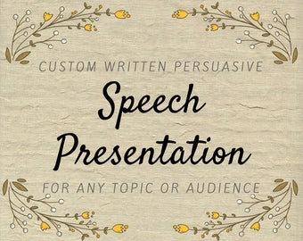 Persuasive Speech Presentation - Campaign Rally Speech - Work Presentation Copywriter - Policy Lecture - Sales Promotion Speech Writing Help