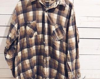 Vintage Grunge Flannel XL