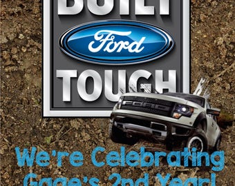 Ford Truck Birthday Invitation