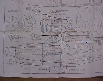 Douglas Dolphin Amphibian Model Airplane Plan 49 Inch Wing Span