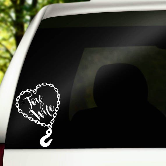 Tow Wife Decal Wrecker Wife Decal Tow Wife Tow Truck