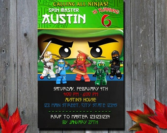 Ninja GO Invitation / Ninja Invitation / Ninja Go Birthday Invitation / Ninja Party Invitation /  Birthday Invitation / Invitation / NR
