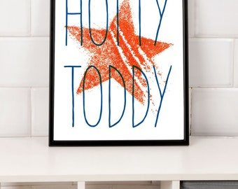 Hotty Toddy - Red & Blue 4th of July - Ole Miss Printable Wall Art - Instant Download Wall Decore - 3 Sizes Included