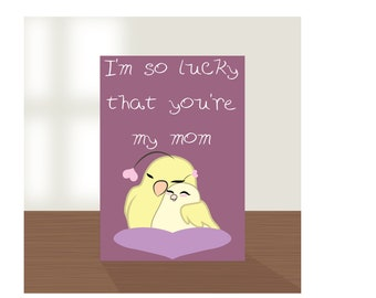 mothers day card, mother hen, bird card, chick, moms day card, card for mothers day, best mom card, first mothers day, mothers day cards