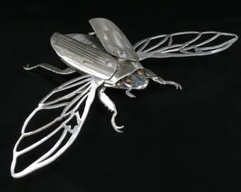 Handmade welded Scarab Beetle