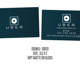 Uber Business Cards- Social Media- Cards- New Uber Logo
