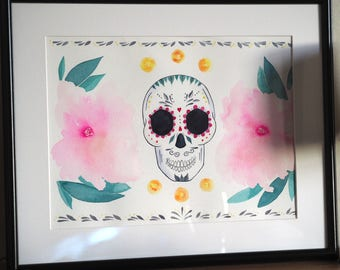 Day of the Dead Original Painting A3