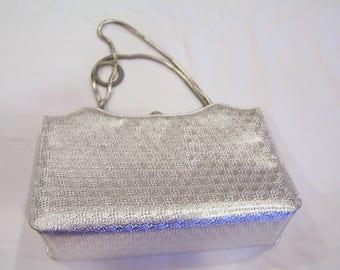 Coblentz Saks Fifth Avenue silver purse, coin purse and mirror