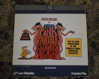 1982 Pink Panther Strikes Again Laser Disc Videodisc Extended Play
