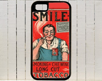 Early Chewing Tobacco Package With Crude Art iPhone Case 4, 4s, 5, 5C, 6, 6+ and Samsung Galaxy 3, 4, 5, 6, Edge