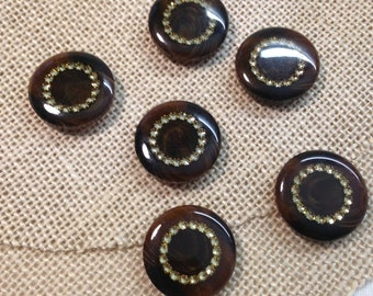Vintage Brown Buttons