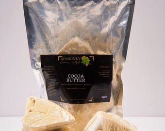 Cocoa Butter Premuim Fair Trade Organic Unrefined  1 lb